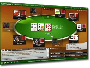 table de jeu sur party poker